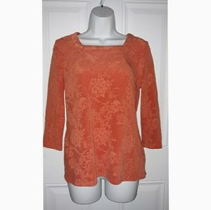 NWOT! KIM ROGERS BEAUTIFUL ORANGE TOP